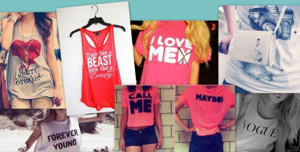 Cum isi aleg femeile tricourile?